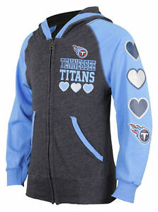 Outerstuff NFL Youth Girls Tennessee Titans Performance Zip Up Jacket