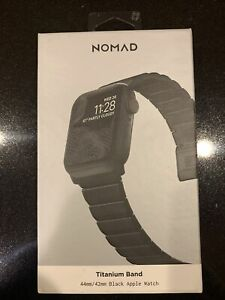 Nomad Titanium Band, Black for Apple Watch 44/42 mm Open Box
