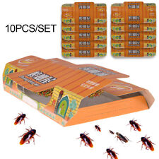 10Pcs Cockroach Killing Bait Sticky Catcher Trap House Corners Pest Control Tool