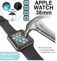 Genuine Tempered Glass Screen Protector For iWatch Apple Watch 38mm Series 1/2/3