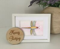 Dragonfly Watercolour Painting By Kenna 12cm X 16cm Unframed Original