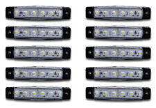 10x 24V LED WHITE FRONT SIDE MARKER CLEARANCE LIGHTS TRUCK MERCEDES VOLVO SCANIA