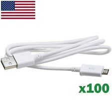 Wholesale 100X Micro USB Sync Cable Charger for Samsung Galaxy S6 Edge S4 S3 S2