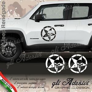 Adhesives Jeep Renegade And Wrangler For Door Side Stella Punisher Distressed