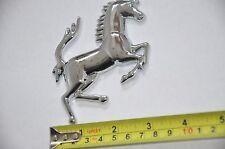Silver Metal Ferrari Replica Horse Logo Car Truck Motorcycle Bike Badge 10cm RHS
