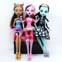 NO BOX 3 pcs/set Dolls Draculaura Clawdeen Wolf Frankie Stein Moveable Joint Dol