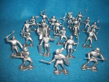 Marx Reissue 1/32nd scale 2nd Issue armored knights and horses 21 pcs. (silver)