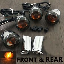 Chrome front Rear Turn Signal Light mount For harley sportster XL883 1200 92-16