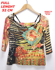 SAVE THE QUEEN LADY WOMAN BLOUSE SHIRT SIZE M OR L  MULTI COLOR MADE IN ITALY