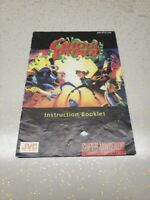 Ghoul Patrol Super Nintendo Entertainment System SNES Manual NO GAME Authentic