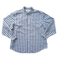 NAUTICA Men's Blue Check Long Sleeve Cotton Shirt Size 2XL