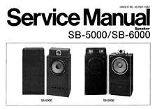 TECHNICS SB-5000, SB-6000, Service Manual, Repair Techniques, Schematic