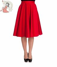 HELL BUNNY 50's PAULA rockabilly jive SKIRT RED