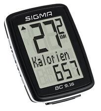 Sigma BC 9.16 Fahrradcomputer/tacho kabelgebunden 9 Funktionen 09160 Kalorien KM