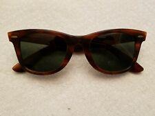 8250e34796a74 VINTAGE 1980 s B L  5022 Ray-Ban USA Wayfarer Tortoise Frame Sunglasses ...