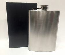 Flask and Funnel Gift Set 8oz Hip Silver Metal Alcohol Whiskey Premium Quality