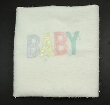 "Quiltex White Baby Blanket Acrylic Trim 36"" x 50"""
