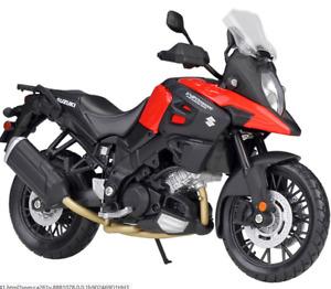 MAISTO 1:12 Suzuki V-Strom Red MOTORCYCLE BIKE DIECAST MODEL TOY GIFT NEW IN BOX