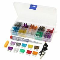 Car Mini Standard Blade Fuses Assortment Kit Set Test Pen Clip Puller