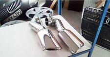 03e2-de Auspuffblenden  PAAR! 2 Stück Set für Audi Q7 VW Touareg Oval EDELSTAHL
