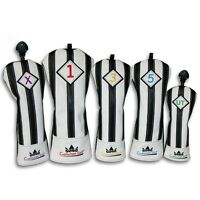 Craftsman Black with White Stripes Series Golf Club Driver Wood UT Head Cover