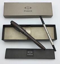 Parker 1795274 Urban Premium, Metallic Brown, Rollerball Pen, Medium Black Refil