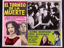 """EL TORNEO DE LA MUERTE"" WRESTLING CROX ALVARADO N MINT LOBBY CARD PHOTO 1957"