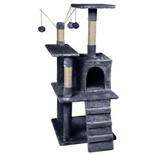 AVC Designs Cat Tree Multi Level Climbing Scratching Sleeping Tower Dark Grey