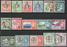JAMAICA-1956-58 Set to £1 Sg 159-174 FINE USED V43951