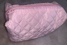 BRAND NEW Fabric Quilted Small Clutch / Travel / Make Up Bag Baby Pink