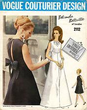1960's VTG VOGUE Couturier Design Misses' Evening Dress w/Label Pattern 2112 14