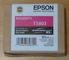ORIGINALE Epson t5803 inchiostro magenta per Stylus Pro 3800 3880 c13t580300 2012 OVP