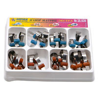 32pcs Extra Metal Matrix Dental Bands Retainerless Universal Supermat Automatrix