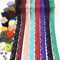 5yds Elastisch Spitzenborte Stretchband DIY BH Unterwäsche Kleidung Nähen 2,5cm