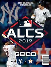2019 ALCS PROGRAM HOUSTON ASTROS NEW YORK YANKEES AMERICAN LEAGUE CHAMPIONSHIP
