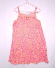Hanna Andersson Dress Sz 120cm 6 7 Pink and Orange Floral Sundress