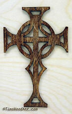 Celtic Cross, Handmade Baltic Birch Wood, for Wall Hanging / Ornament, Item S3-3