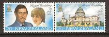 New Zealand # 734-5 Mnh Royal Wedding Charles & Diana