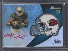 MICHAEL FLOYD 2012 BOWMAN CARDINALS HELMET REFRACTOR RED INK SP AUTO RC ONLY /15