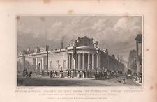 1828 ANTIQUE PRINT-SHEPHERD - LONDON - NORTH & WEST FRONT OF BANK OF ENGLAND