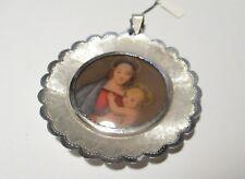 Formella capezzale decorativa  argento 800 Vergine Maria per la casa o la culla