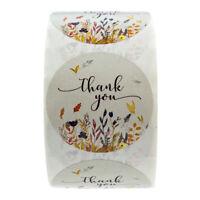 500 Stück Blumenmuster Aufkleber Papier Versiegelung Aufkleber Xmas Decoration
