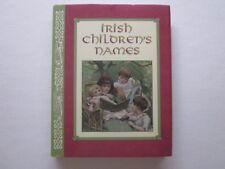 IRISH CHILDREN'S NAMES - Small Hardback Book - Illustrated