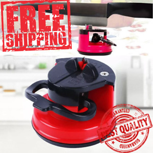 Household KITCHEN KNIFE Sharpener With Suction Cup Whetstone Suction Cup