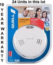 24 X Quell Photoelectric Smoke Alarms 240V Interconnect (24 units) 10Yr Warranty