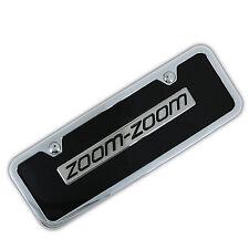 Mazda Zoom Zoom Name Badge On Mini Black License Plate + Frame