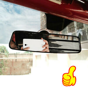 Adjustable Auto Car Interior Rear View Mirror Wide Flat Suction Stick Rearview