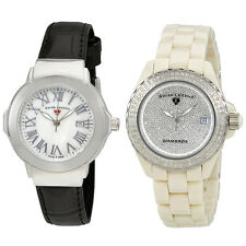 Set of Two Swiss Legend South Beach / Karamica Diamonds Ladies Watches