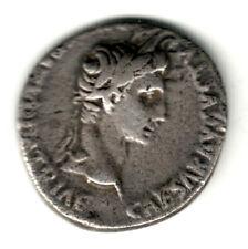 DENARIO plata Imperio Romano AUGUSTO acuñado en Lugdunum 2 a.c. al 14 d.c.