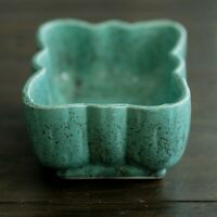 Brush Pottery Teal Speckled Planter McCoy Pottery